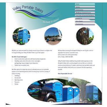 Website and branding Valley Portable Toi