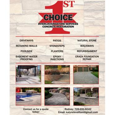 1st Choice Interlockingstone Services Concrete Restoration logo