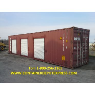 40ft Storage container ROLL UP DOORS