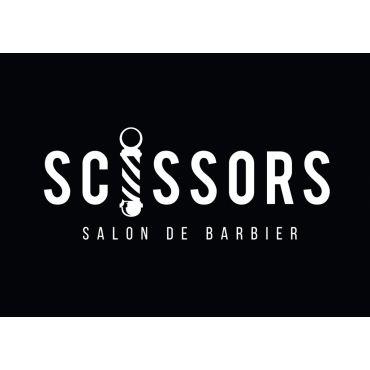 Scissors Salon De Barbier PROFILE.logo
