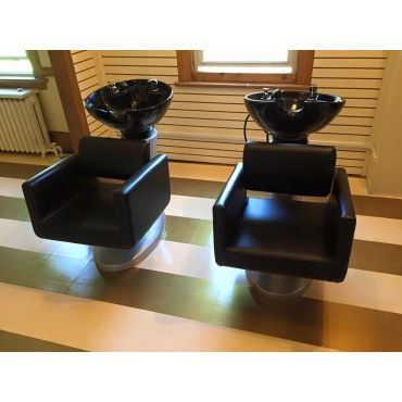 Hair washing sinks install.
