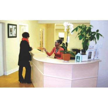 Reception with receptionist