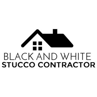 Black And White Stucco Contractor PROFILE.logo