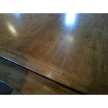Beautiful sanded and stained wood floor