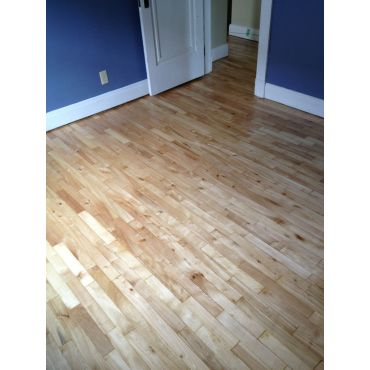 Sanded and refinished apartment floor