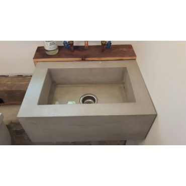 Custom Concrete Box Sink