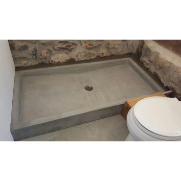Custom Concrete Shower Basin