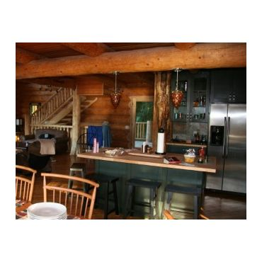 Custom Log Kitchen