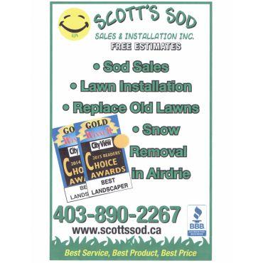 Scott's Sod Sales & Installation PROFILE.logo