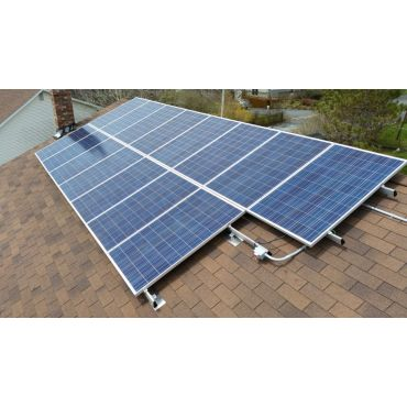 Grid-tied solar PV installation