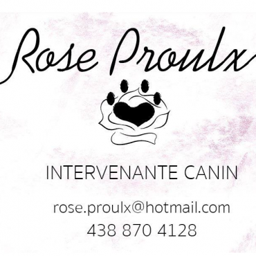 Rose Proulx Intervenante Canin logo