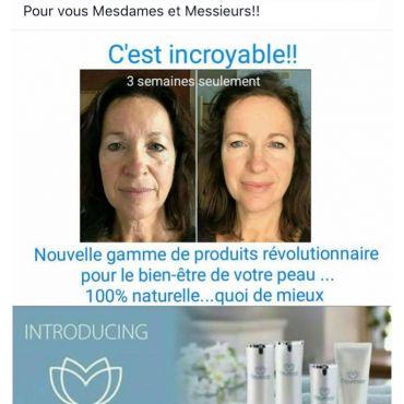 Produits naturels de soins de la peau.