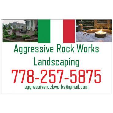 Aggressive Rock Works Landscaping logo
