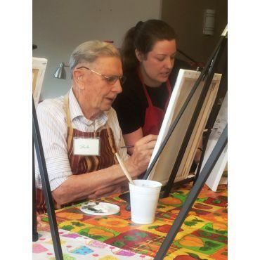 Painting Hands at Meadowlark