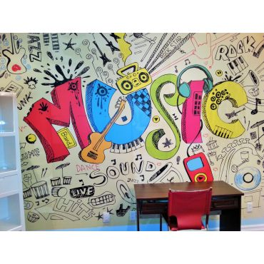 Let's Get Musical wall mural