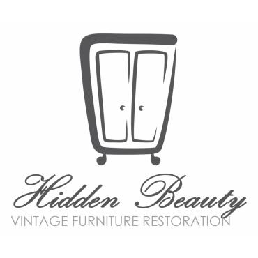 vintage furniture logo. Hidden Beauty Vintage Furniture Restoration Logo