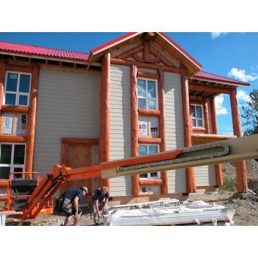 Exterior finishing; windows,roof,siding