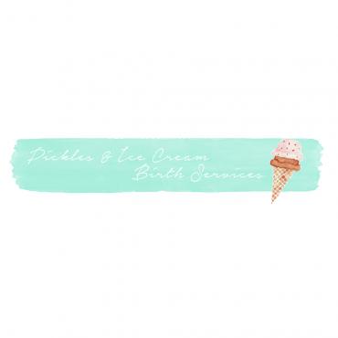 Pickles and Ice Cream Birth Services logo
