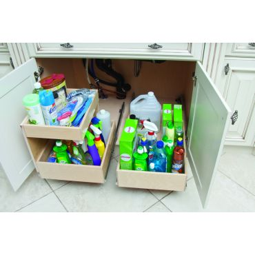 Under sink pull-out storage solutions