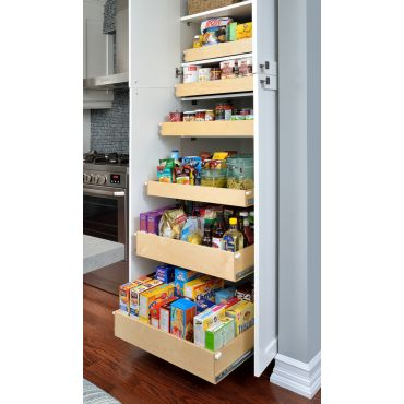 Pantry roll-out sliding shelves