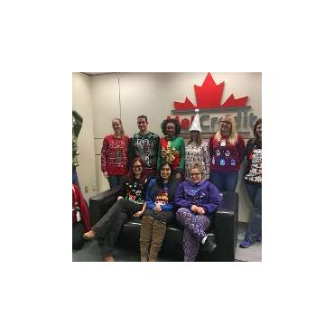 MetCredit Ugly Christmas Sweater Day