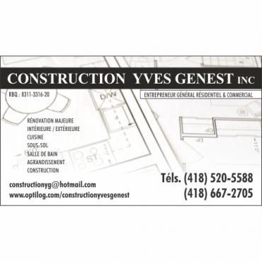 Construction Yves Genest Inc. logo