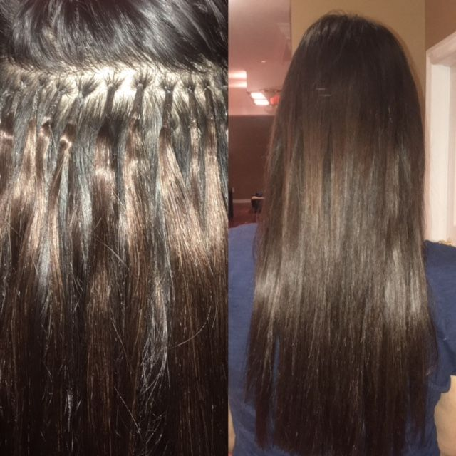 Fusion Hair Extension Application