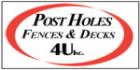 Post Holes Fences & Decks 4U PROFILE.logo