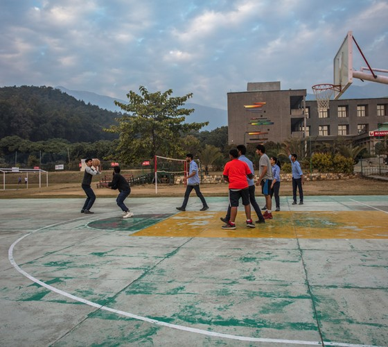 UPES Students playing basketball