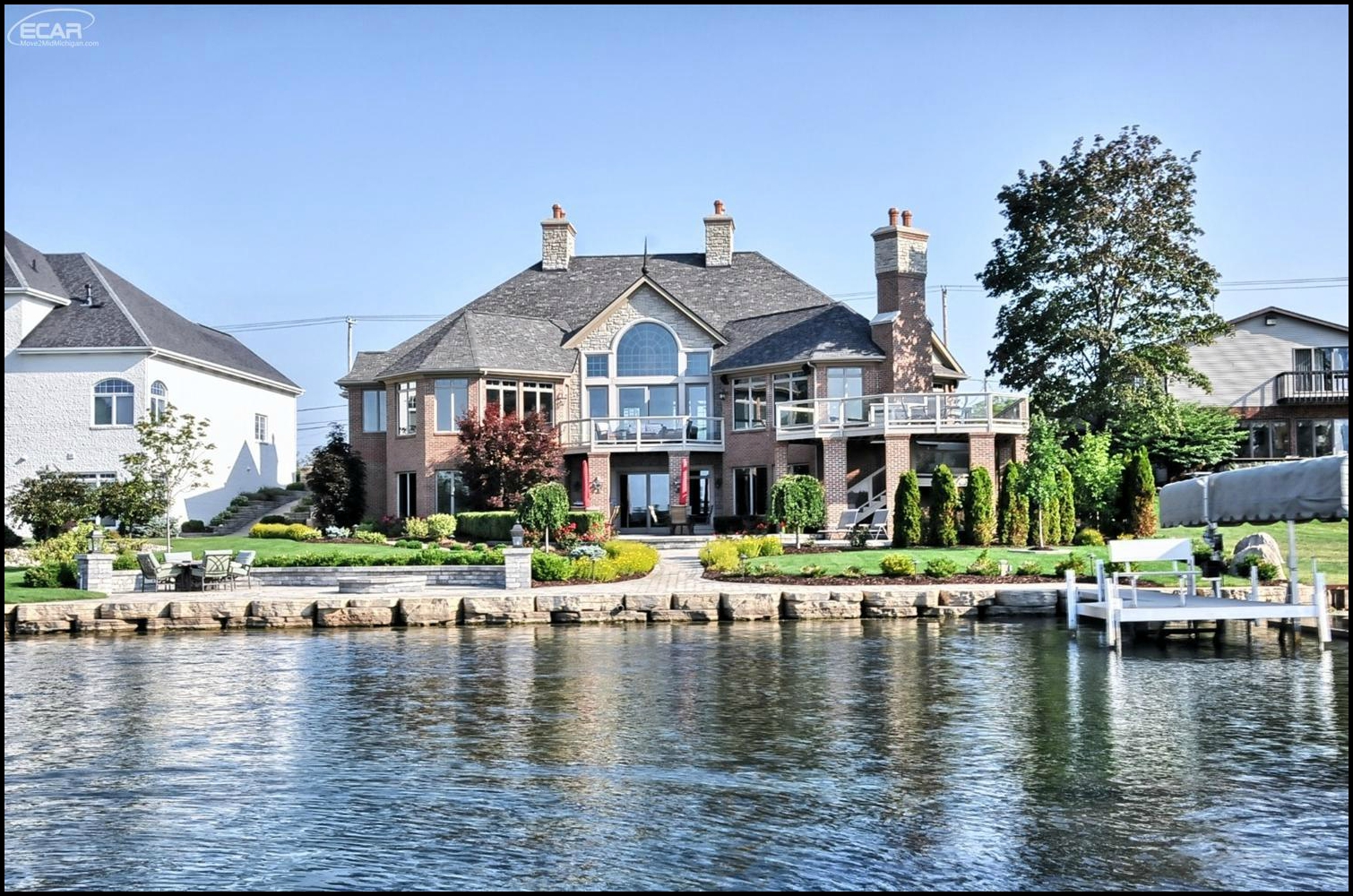 Waterfront lake homes the anuj chand real estate group Lake house builders
