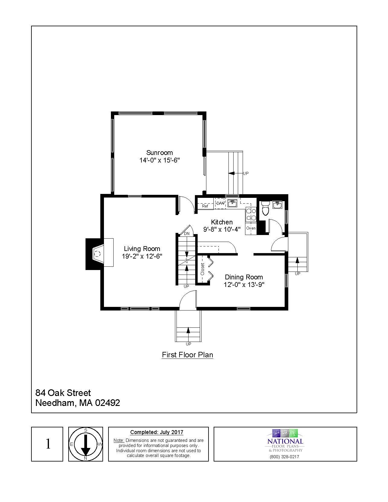 84 Oak Street, Needham, MA - Floor plan