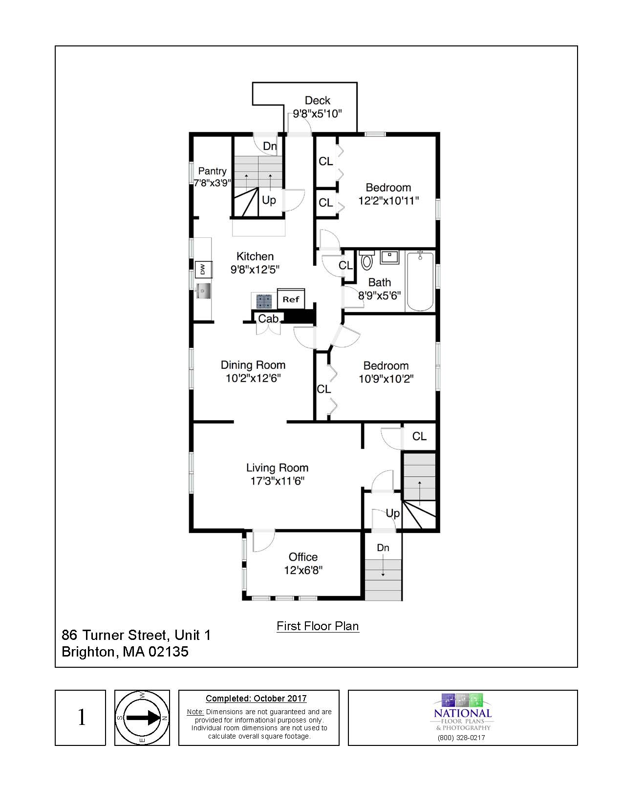 86 Turner St; Unit 1, Brighton, MA - Floor plan