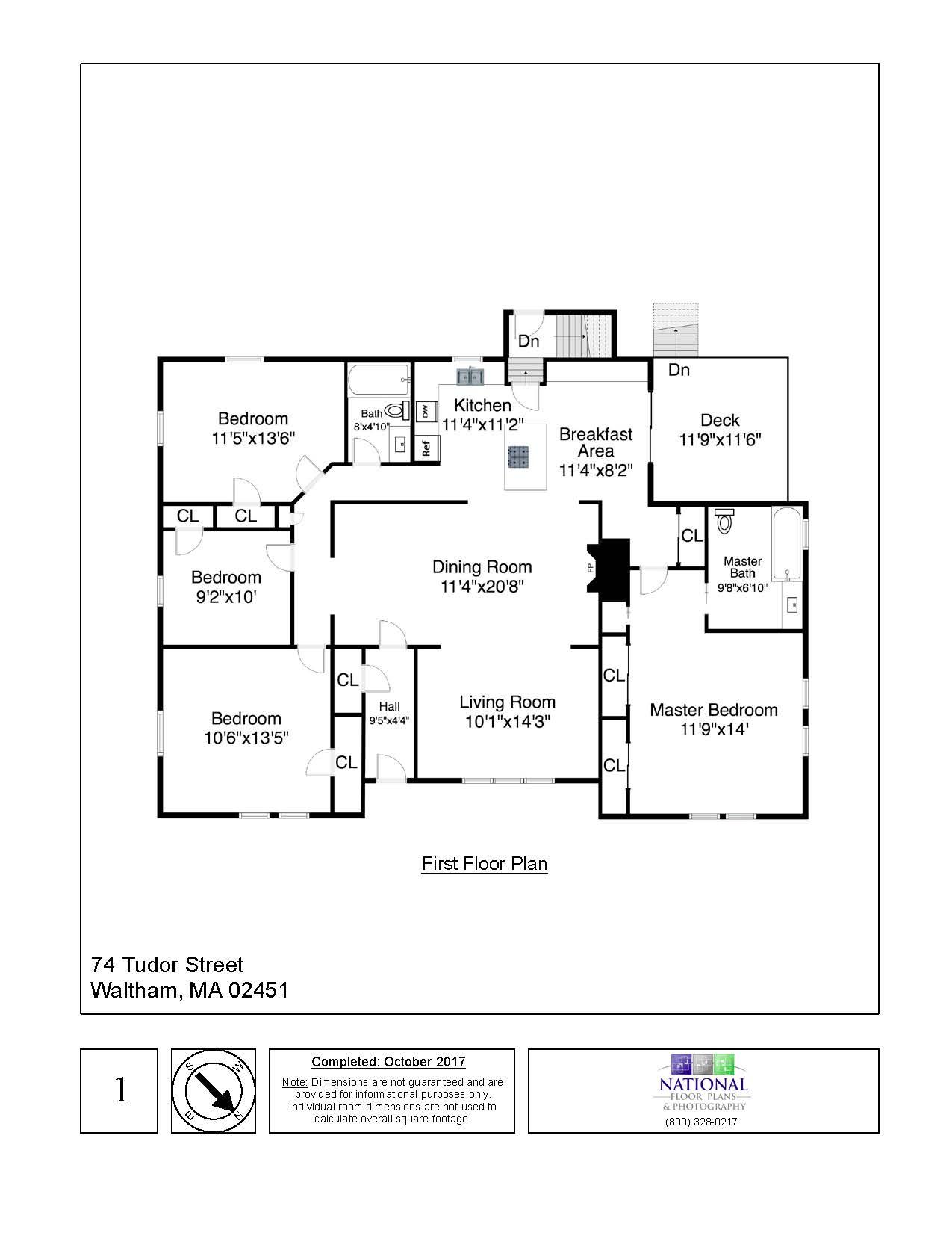 74 Tudor Street, Waltham - First Floor Floor Plan