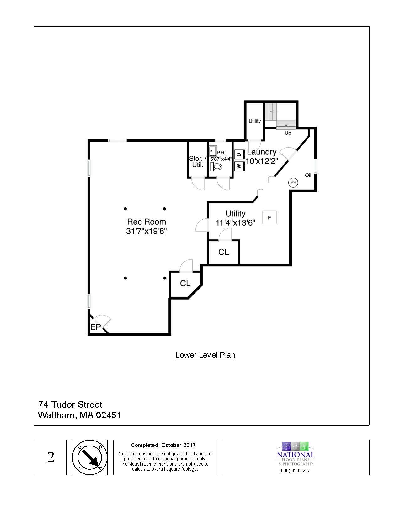 74 Tudor Street, Waltham - Lower Level Floor Plan