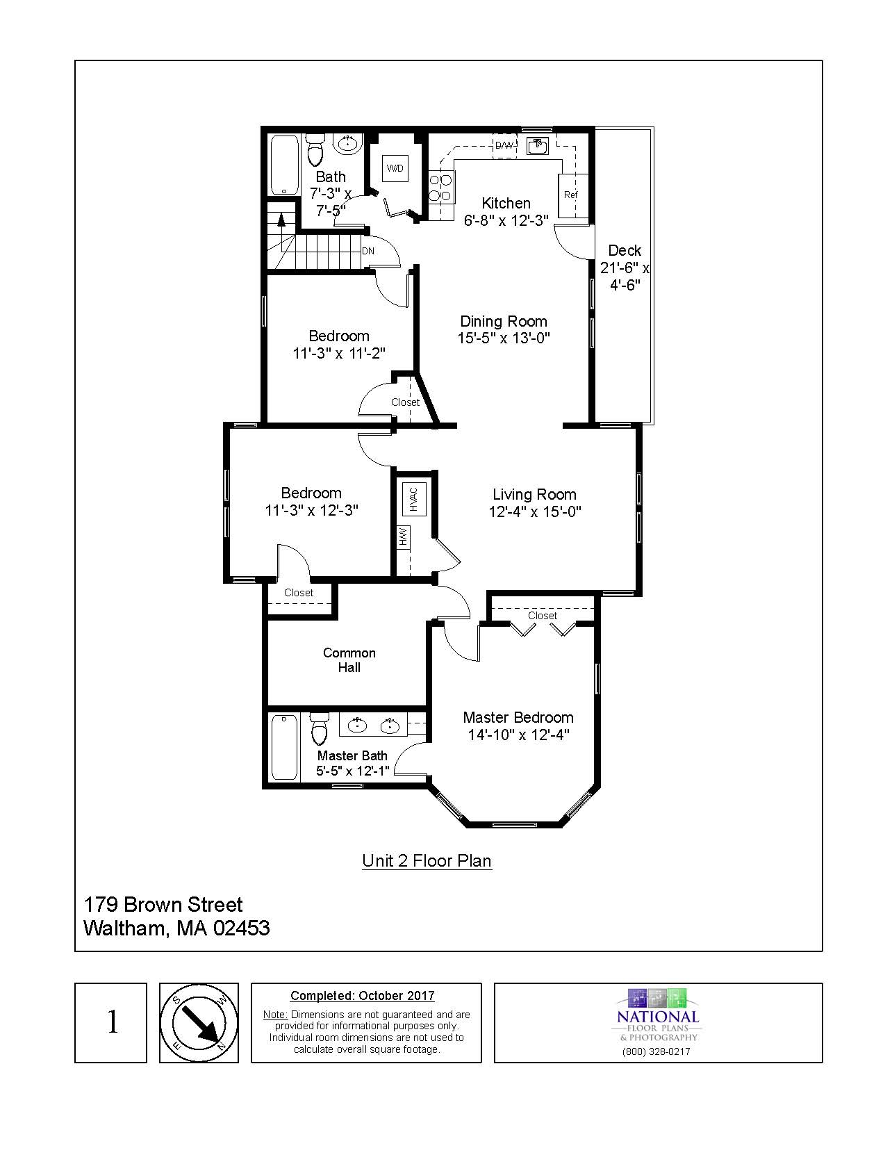 179 Brown Street; #2, Waltham, MA - Floor plan
