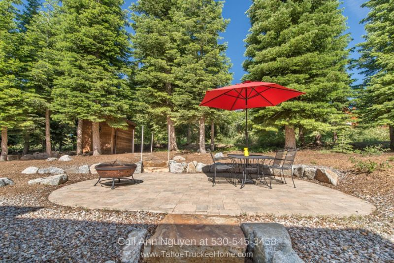 Homes for Sale in Tahoe Donner Truckee CA - Bask in the sunlight and fresh wind on the patio of this Tahoe Donner home for sale.