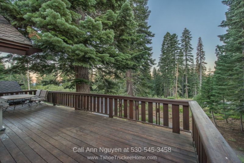 Tahoe Donner Truckee CA Homes - Enjoy amazing serene views in any of the decks of this Tahoe Donner mountain home for sale.