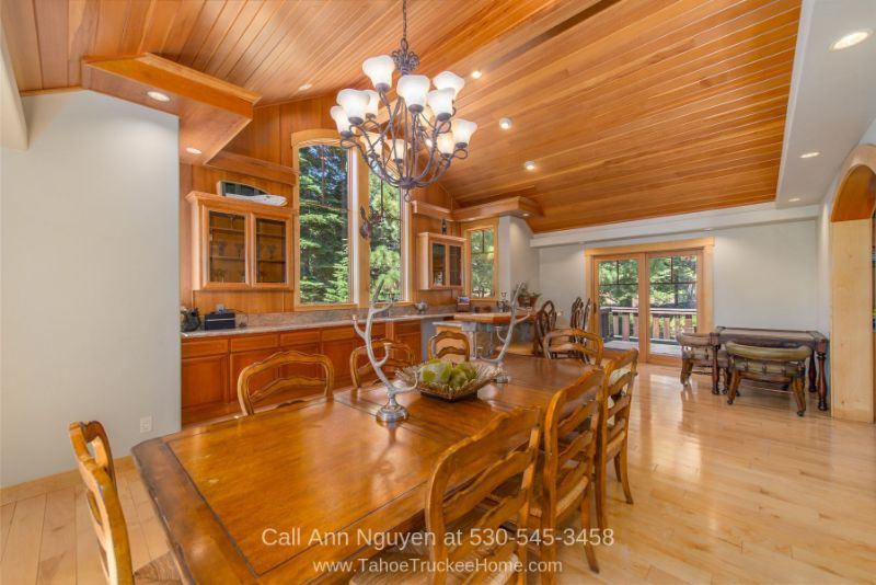 Tahoe Donner Truckee CA Homes for Sale - Entertaining is a breeze in the spacious dining area of this luxury mountain home for sale in Tahoe Donner Truckee CA.