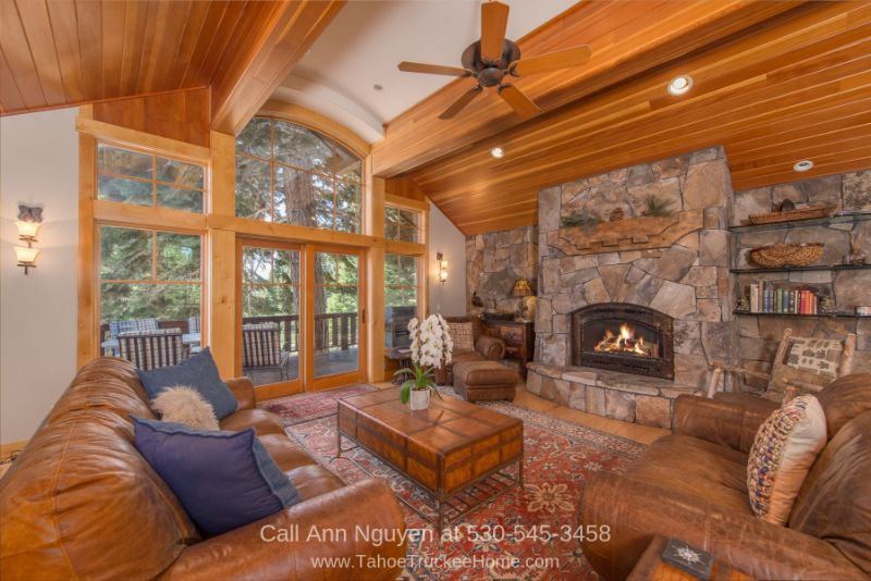 Homes for Sale in Tahoe Donner Truckee CA - This spacious living area in the Tahoe Donner home is the perfect place for rest and relaxation.