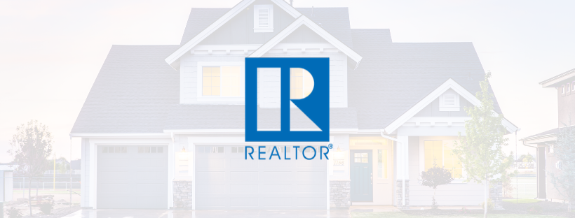 The REALTOR® logo on an overlay of a home.