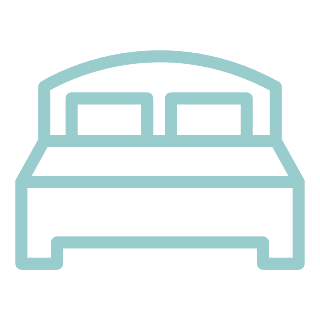Number of bedrooms icon.