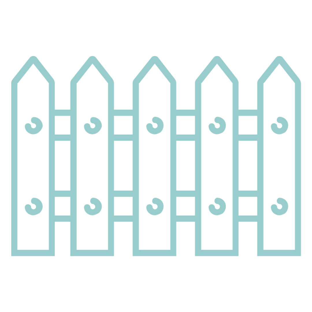 Fence icon to represent number of home acres.