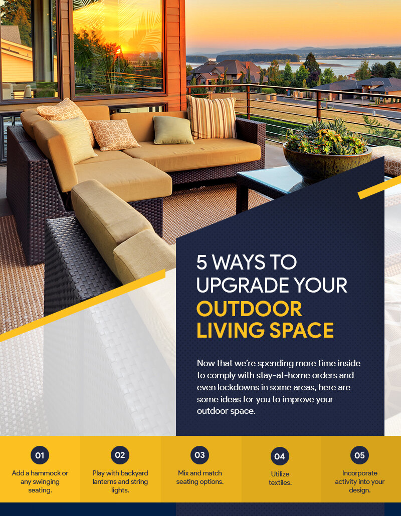 5 Ways To Upgrade Your Outdoor Living Space