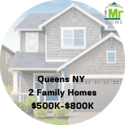 Queens Ny 2 family homes for sale $500k-$800k