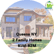 queens Ny 2 family homes for sale $1m-$2m