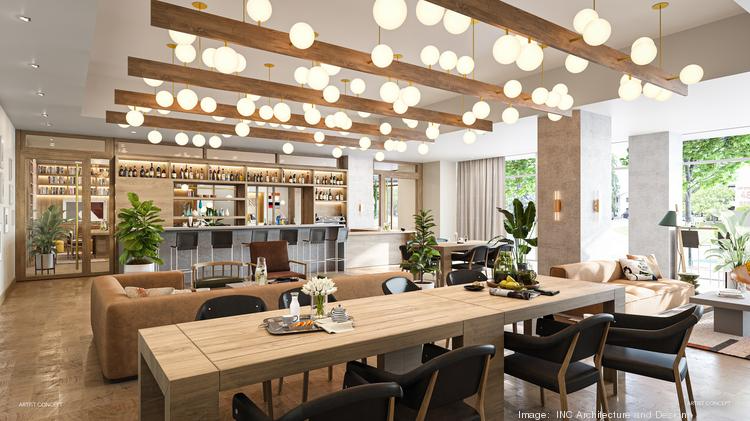 Developers of Natiivo Austin are providing a first look of the interiors of the tower expected to be open in October 2021. Click through the gallery to see more renderings. This is what the event room off the lobby will look like, featuring a large custom-made light fixture with about 60 globes.