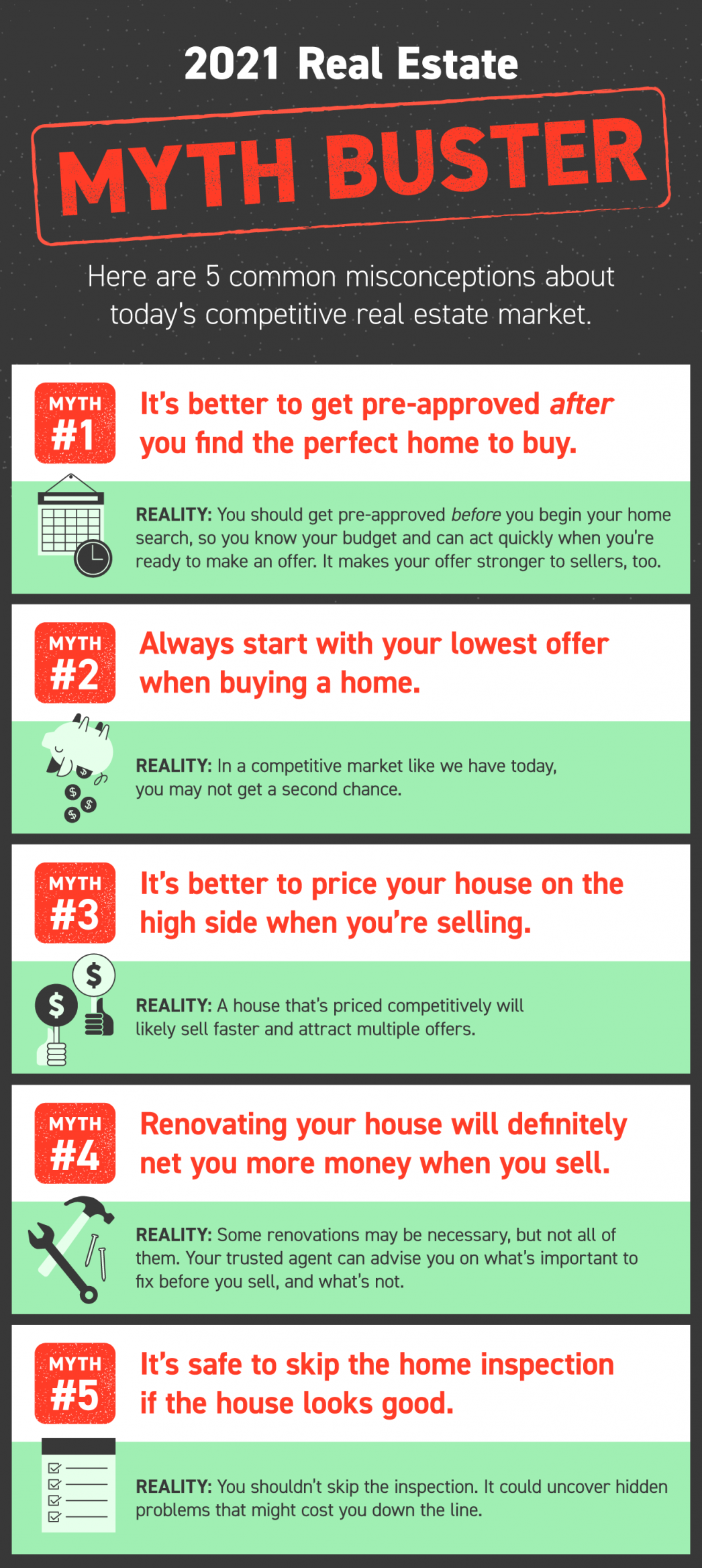 2021 Real Estate Myth Buster [INFOGRAPHIC] | MyKCM