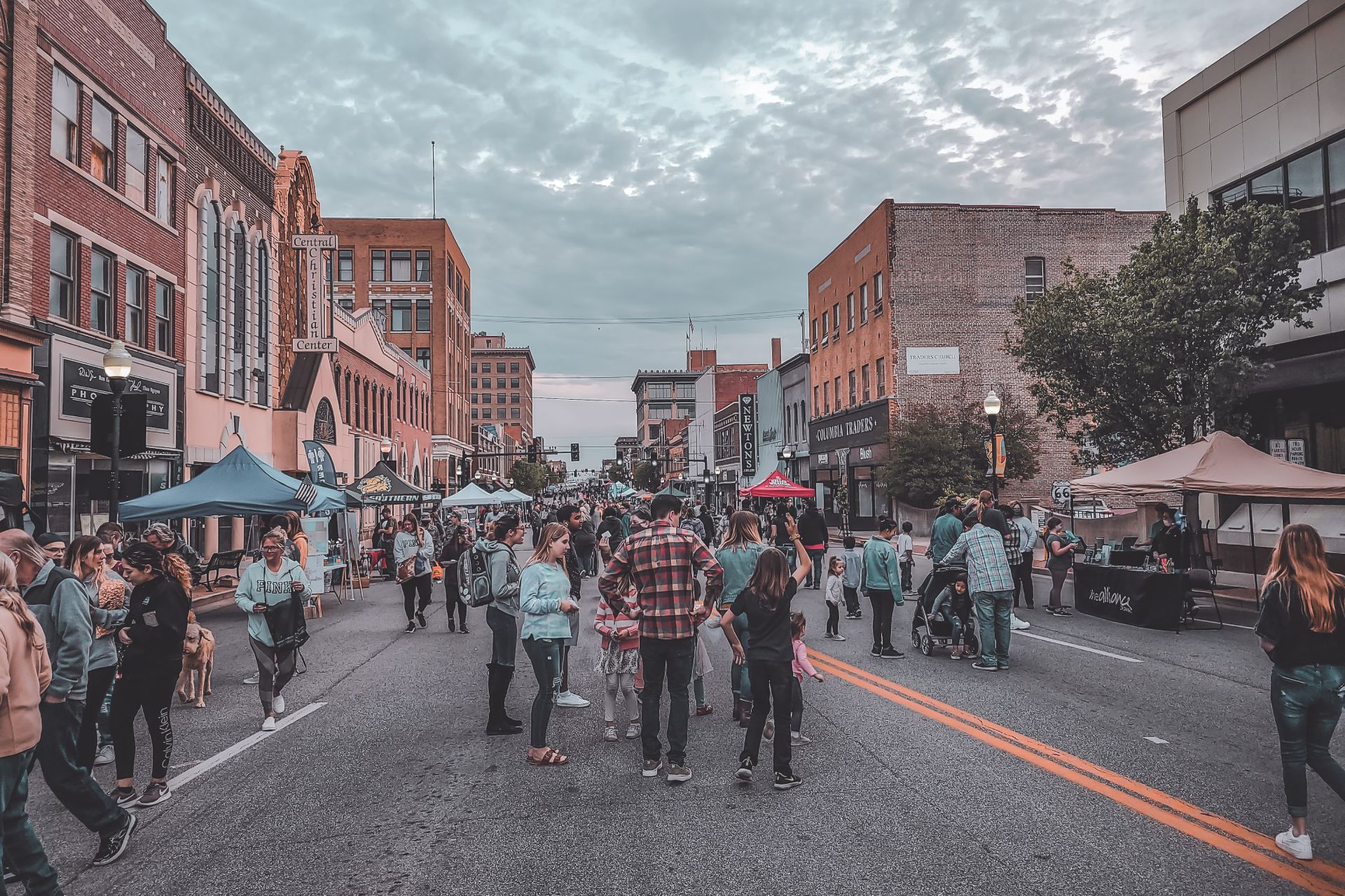 """Photo of people enjoying the monthly downtown Joplin Event """"Third Thursday"""""""