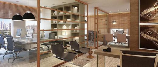 Sala decorada 65m2 - Fachada - Up Offices Berrini - 320 - 4