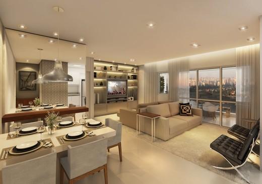 Living - Apartamento à venda Rua Doutor Oscar Monteiro de Barros,Morumbi, São Paulo - R$ 1.111.200 - II-1634-6165 - 4